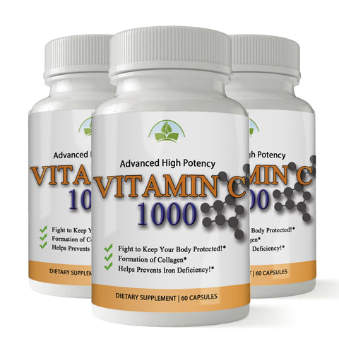 Totally Products Vitamin C 1000mg Immune Support - 180 Capsules