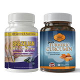 Brazilian Belly Burn and Turmeric Curcumin Combo Pack