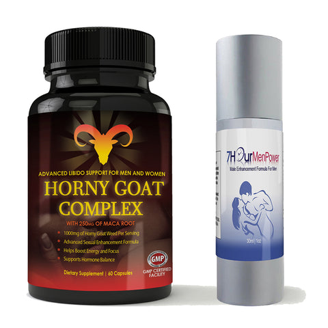 Horny Goat Complex and 7Hour Men Power Combo Pack