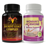 Horny Goat Complex and Woman's Hormone Support Combo Pack