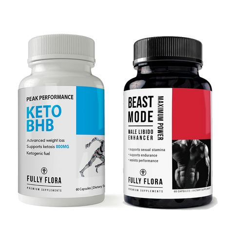 Fully Flora Keto BHB and Beast Mode Combo Pack