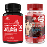 Totally Products Apple Cider Vinegar Gummies plus Gummy Vitamins Combo Pack