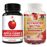 Apple Cider Vinegar Gummies with Pomegranate plus Biotin Gummies Combo Pack