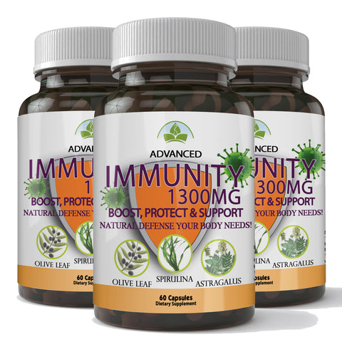 Totally Products Immunity Defense 1300mg - Advanced Immunity Support (180 capsules)