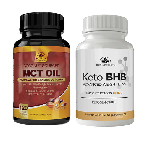 Totally Products Keto Slim BHB & Pure MCT Oil Combo Pack