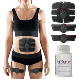 ABS Stimulator with 7Hour Slim Dietary capsules