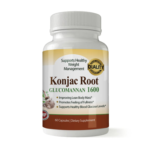 Pure Konjac Root 1600 MG for Weight Loss (60 Capsules)
