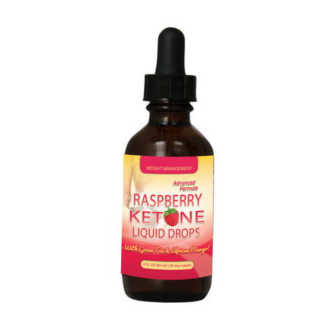Raspberry Ketones Drops with Green Tea and African Mango