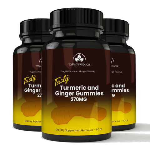 Totally Products Adult Turmeric & Ginger Gummies with C3 Complex (180 count)