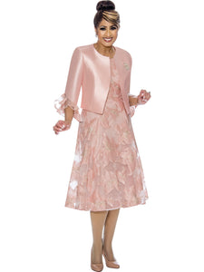 DCC1962W Pink Jacket Dress, Dorinda Clark Cole DCC Rose Collection