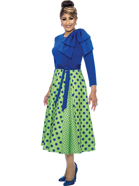 Royal/Lime Green Dress, Dorinda Clark Cole DCC Rose Collection