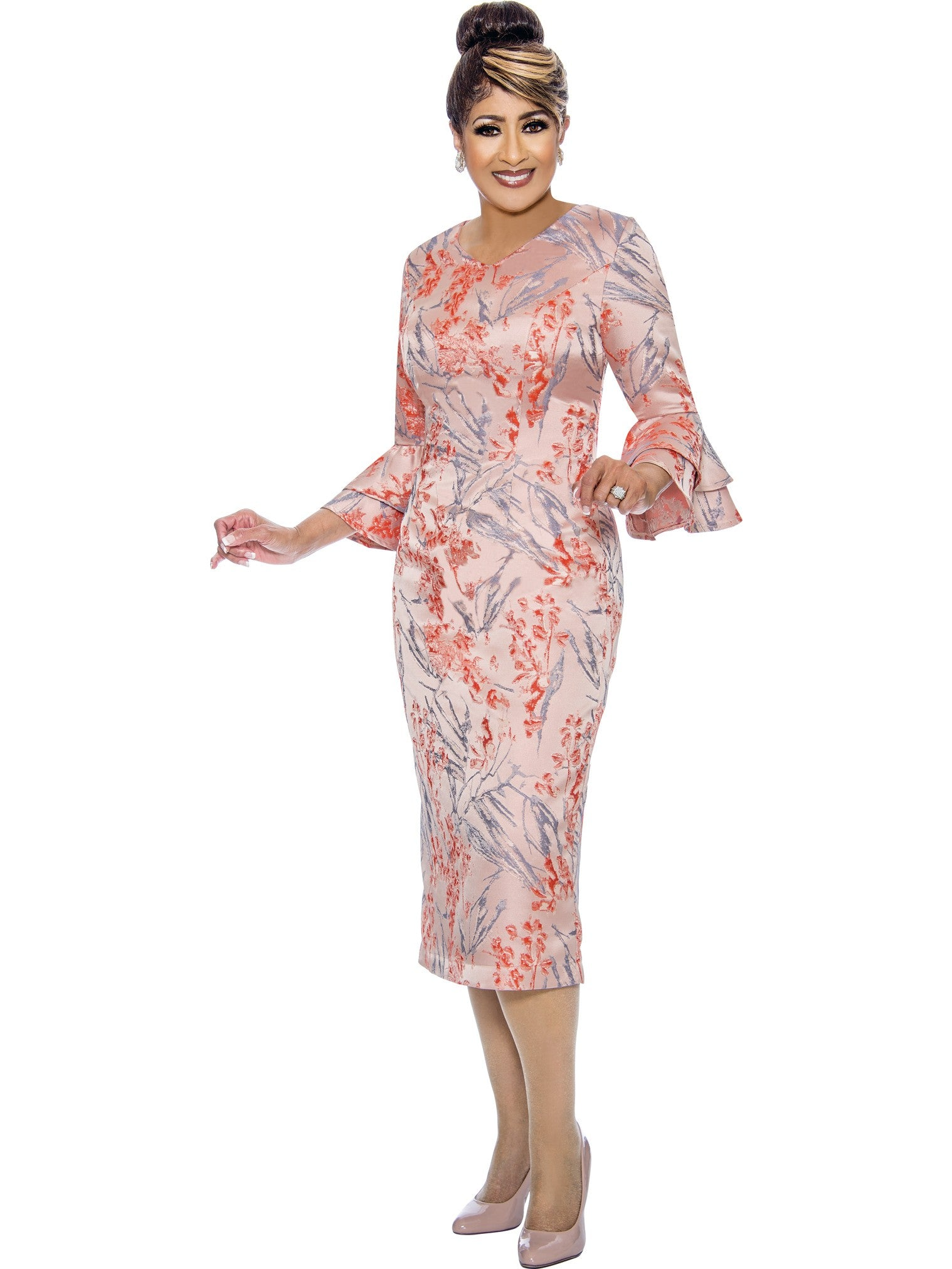 Coral Dress, Dorinda Clark Cole DCC Rose Collection