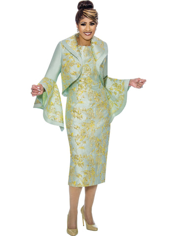 Citron Jacket Dress, Dorinda Clark Cole DCC Rose Collection