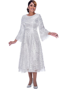 DCC2171 White Dress, Dorinda Clark Cole DCC Rose Collection