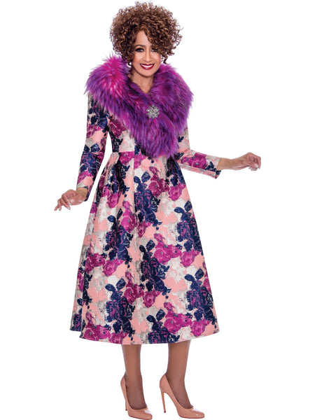 DCC2212 Magenta Dress, Dorinda Clark Cole DCC Rose Collection