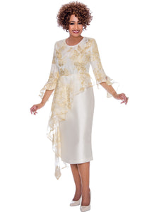 DCC2331 Ivory Dress, Dorinda Clark Cole DCC Rose Collection