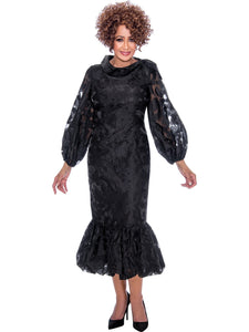 DCC2351 Black Dress, Dorinda Clark Cole DCC Rose Collection