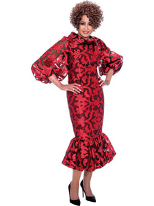 DCC2351 Red Dress, Dorinda Clark Cole DCC Rose Collection