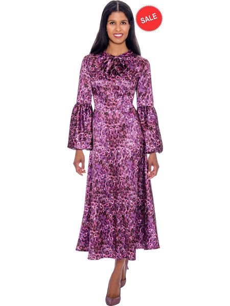 DN2671W Purple Church or Special Occasion Dress, Dresses by Nubiano