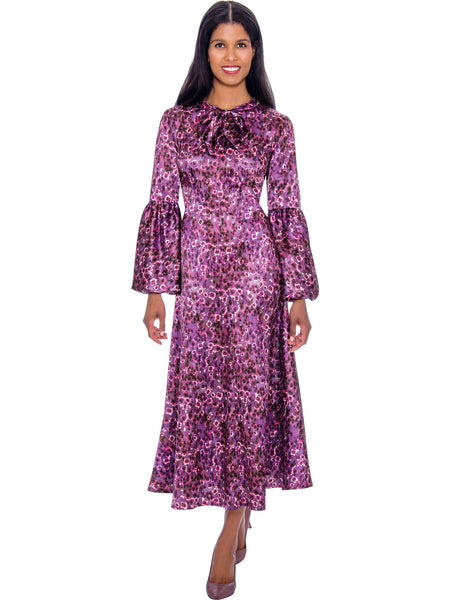 DN2671 Purple Church or Special Occasion Dress, Dresses by Nubiano