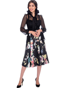 DN2731 Floral and Lace Church or Special Occasion Dress, Dresses by Nubiano