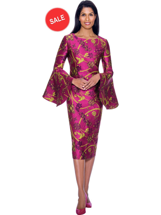 DN2911 Violet Church or Special Occasion Dress, Dresses by Nubiano