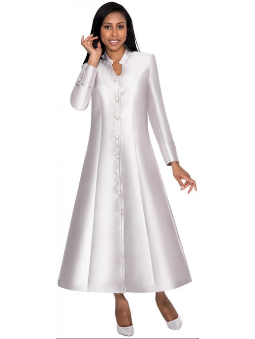 Silver Robe Dress for Church, Choir, Clergy, Pastors, Priests, Groups