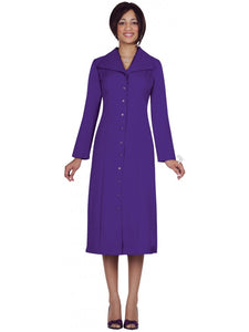 G11573 Purple Usher Dress, Church, Choir, Group Uniform