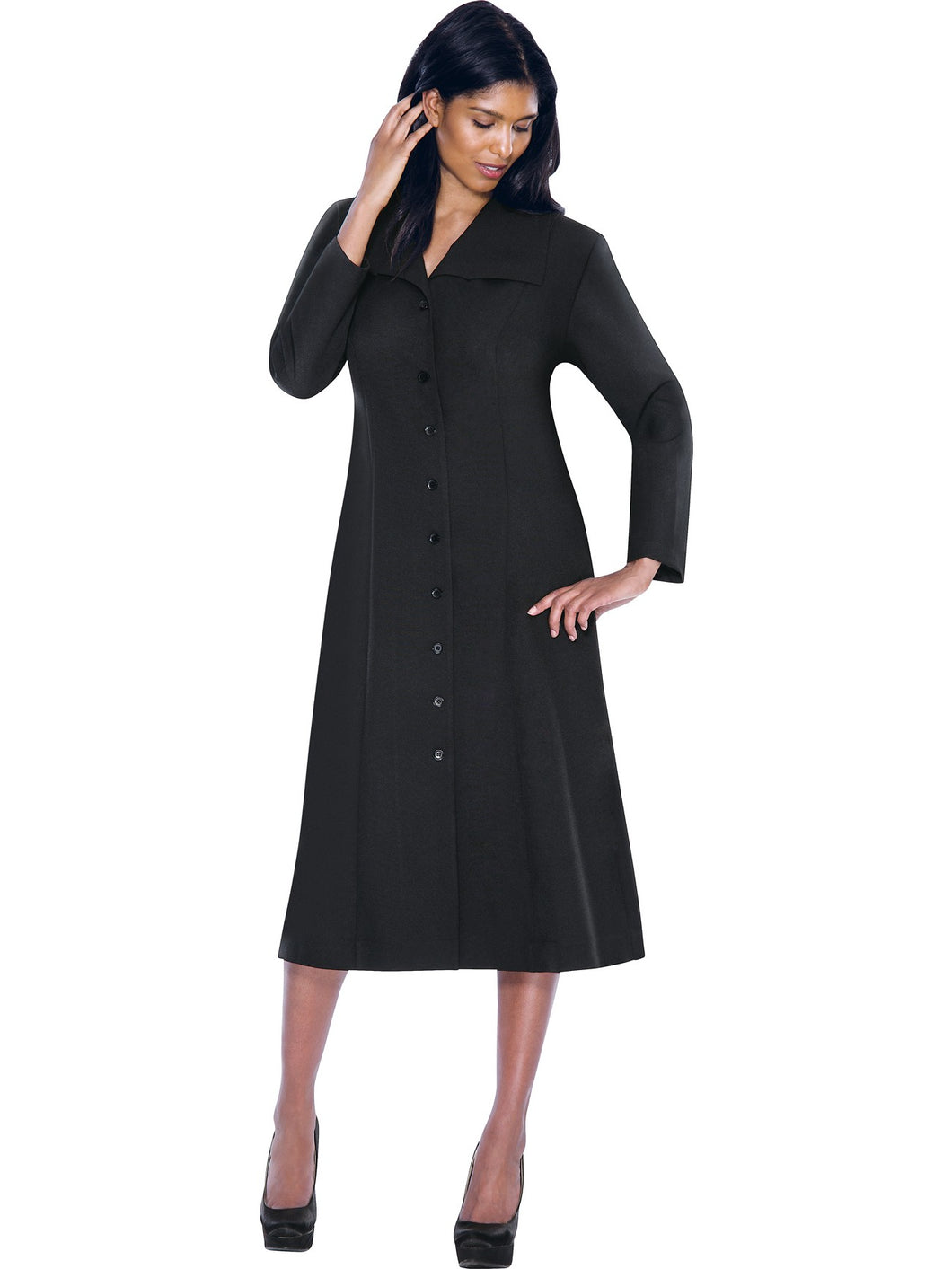 G11573 Black Usher Dress, Church, Choir, Group Uniform
