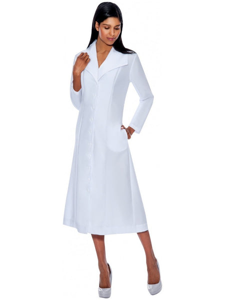G11573 White Usher Dress, Church, Choir, Group Uniform