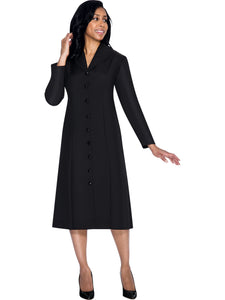 G11674 Black Usher Dress, Church, Choir, Group Uniform