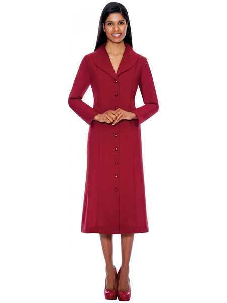 G11674 Burgundy Usher Dress, Church, Choir, Group Uniform