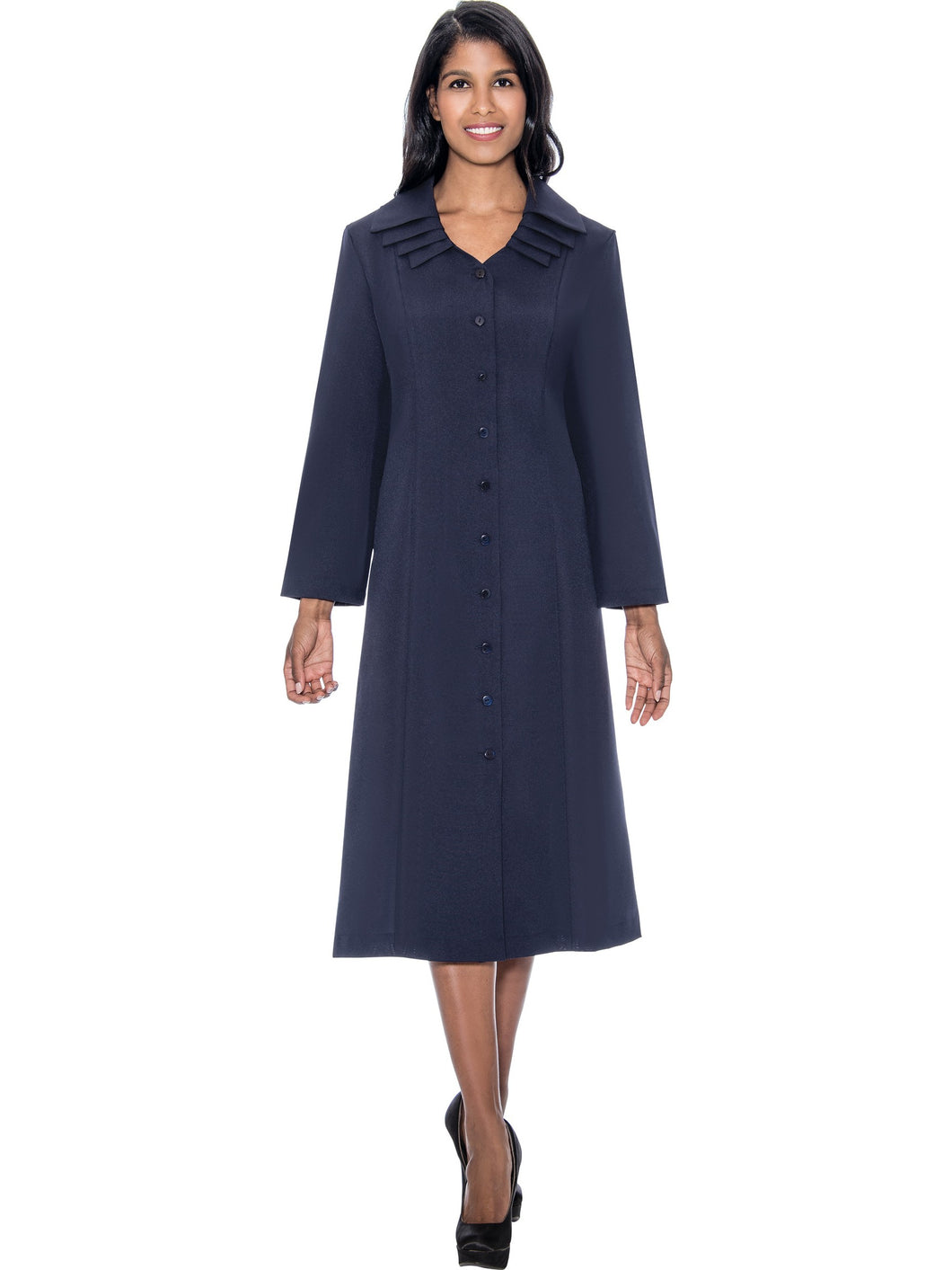 G11721 Navy Usher Dress, church, choir, group uniform