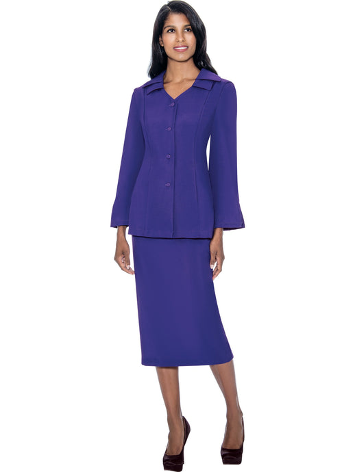 G12777 Purple Usher Suit, Church, Choir, Group Uniform