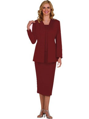 G13270 Burgundy Usher Suit, Church, Choir, Group Uniform