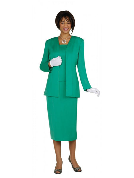 G13270 Emerald Green Usher Suit, Church, Choir, Group Uniform