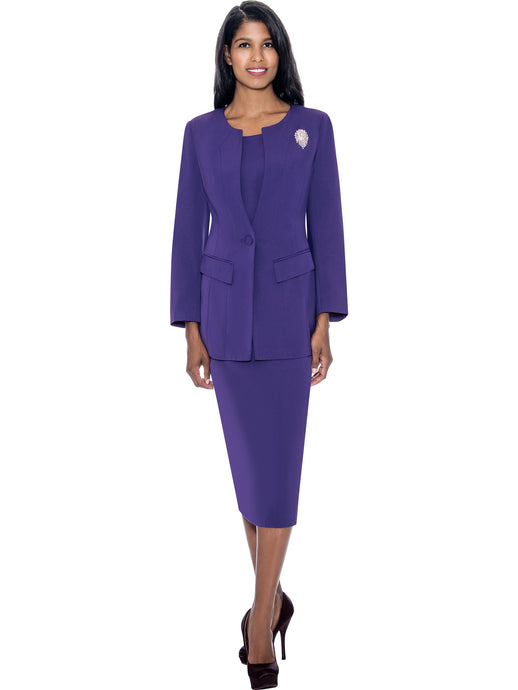 G13393 Purple Usher Suit, Church, Choir, Group Uniform