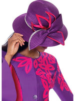 Purple/Magenta Hat, Church Suit, Special Occasion Skirt Suit, Mother of the Bride