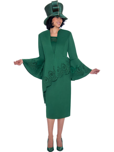 Green Skirt Suit, Church Suit, Special Occasion Suit, Mother of the Bride