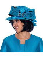 GMI G7442 Turquoise Hat -  Church Suit, Special Occasion Skirt Suit, Mother of the Bride