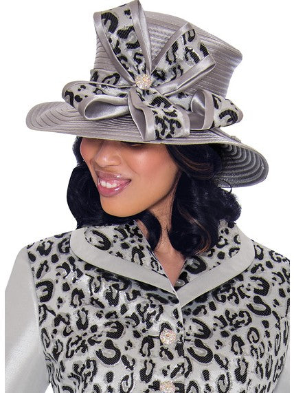 GMI G7512 Silver Hat for Church Suit, Special Occasion Skirt Suit, Mother of the Bride