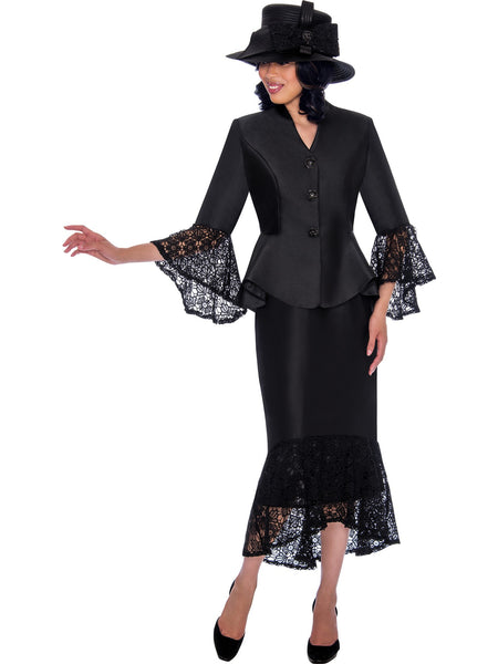 GMI G7552 Black Church Suit, Special Occasion Skirt Suit, Mother of the Bride