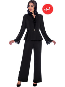 GMI G7563 Black Church Suit, Special Occasion Skirt Suit, Mother of the Bride