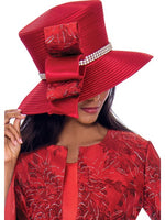 GMI G7593 Red Hat for Church Suit, Special Occasion Skirt Suit, Mother of the Bride