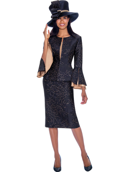 GMI G7593 Navy Church Suit, Special Occasion Skirt Suit, Mother of the Bride