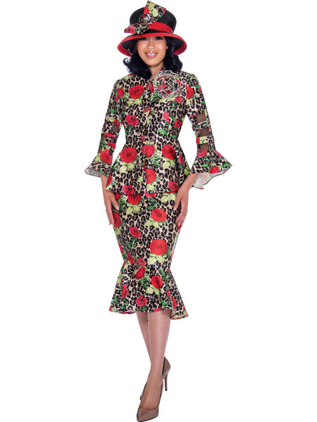 GMI G7602 Red Church Suit, Special Occasion Skirt Suit, Mother of the Bride