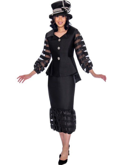 GMI G7632 Black Church Suit, Special Occasion Skirt Suit, Mother of the Bride