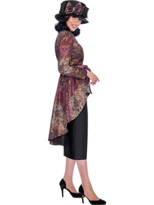 GMI G7772 Purple Church Suit, Special Occasion Skirt Suit, Mother of the Bride