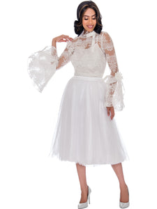Rose Collection RC245 White Skirt – Church, Wedding, Holiday, Special Occasion