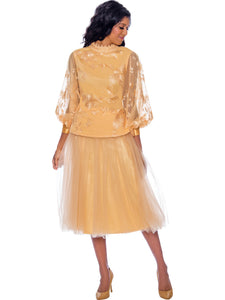 Rose Collection RC245 Champagne/Gold Skirt – Church, Wedding, Holiday, Special Occasion
